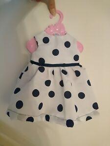 Handmade Fashion Dress To Fit Baby Born Poupée Babyborn Polkadot Boutique-afficher Le Titre D'origine