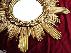 Barock antik wandspiegel sonne in gold 42x42 cm rund runder repro spiegel sun 14 ebay - Runder spiegel gold ...