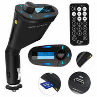 Sd Card Mp3 Player Led Display Music Fm Transmitter Backlit Usb Car Charger Kit