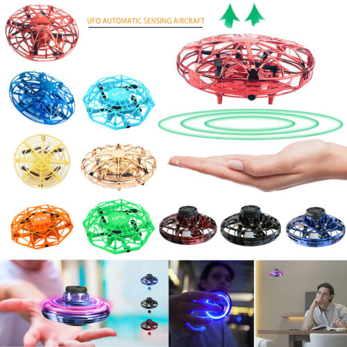 Mini UFO Drone RC Infrared Sensor Induction Aircraft Quadcopter Flying Toy Gifts