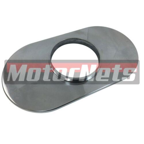 "15/"" Oval Chrome Ball-Milled Aluminum Air Cleaner Chevy Ford Mopar SBC BBC HotRod"