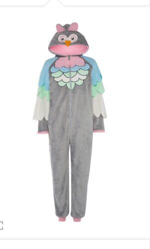 Primark Femmes Femmes Chouette Tout en Un Combinaison Pyjama onese Taille L UK 14-16 Neuf!