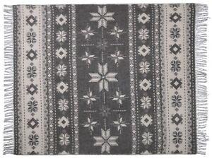 Sofadecke Wollplaid Tagesdecke Schurwolldecke