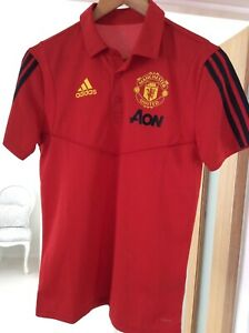 Manchester United Training ADIDAS, Polo, T-Shirt, Top Taglia X Small 2019
