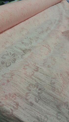 """Nuevo ** Melocotón Rosa Polialgodón Hermosa Flor y se queme Diseño Floral 58/"""" de ancho"""