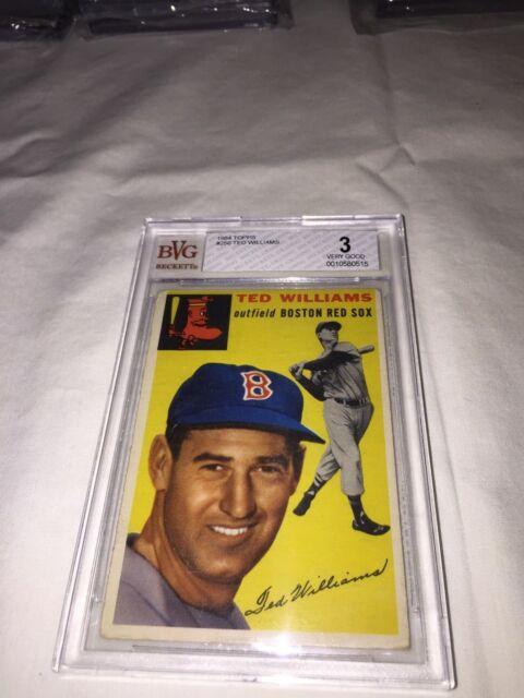1954 Topps Ted Williams 250 Baseball Card