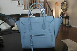 a483a1b61f Image is loading NWT-Celine-Baby-Blue-Phantom-Luggage-Grained-Leather-