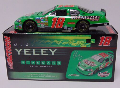 1 OF 144 RARE 2006 Monte Carlo #18 J.J. YELEY NASCAR 124 SCALE ACTION RACE CAR
