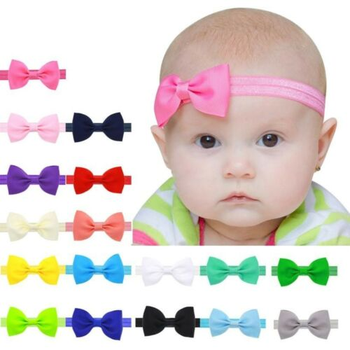 Baby Bow Headband Newborn Hair Accessory Kids Hair Band Bow Elastic Stretchy