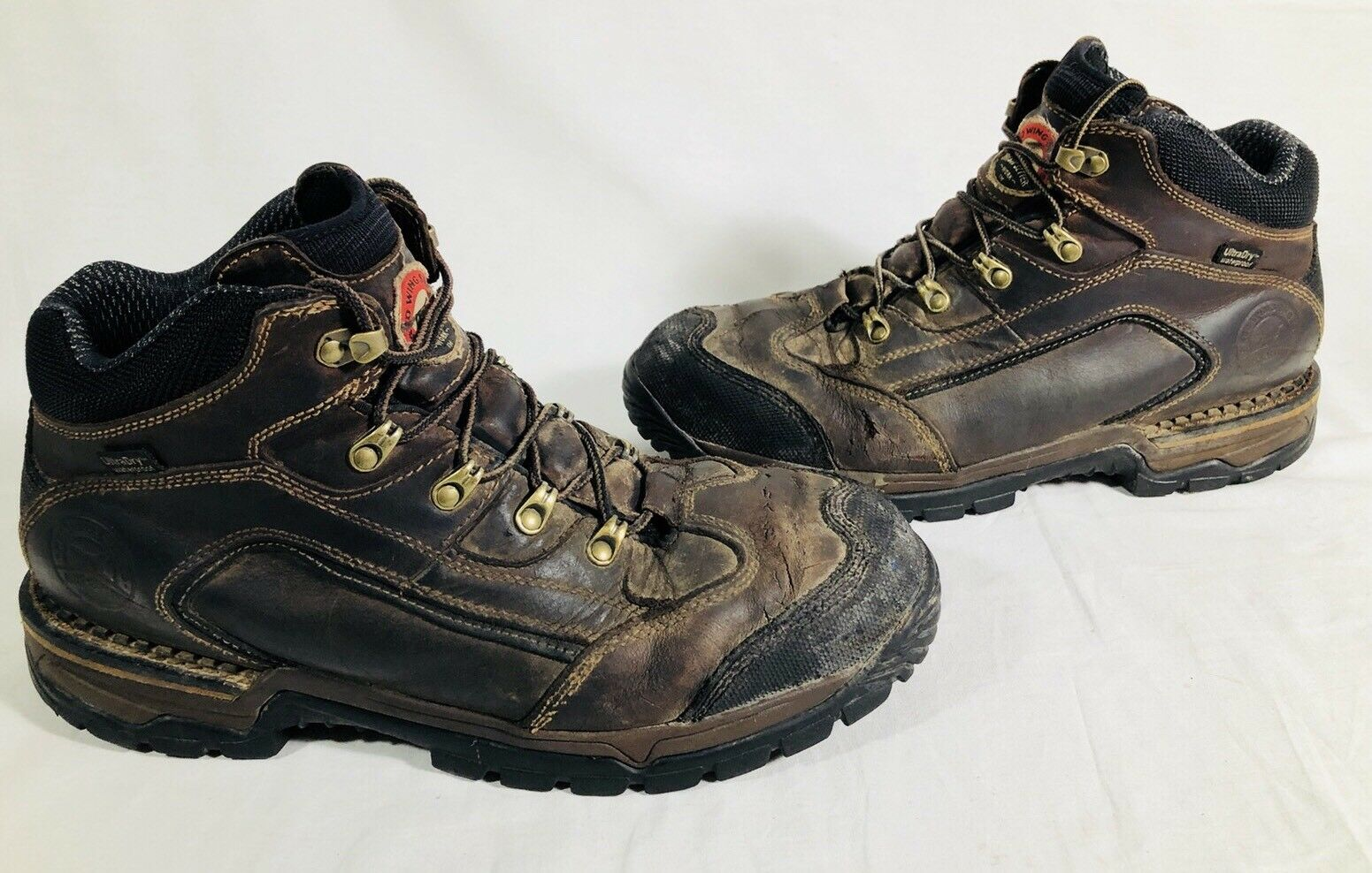 Red Wing Irish Setter Men's Ultra Dry Steel Toe Boots Size 12 M