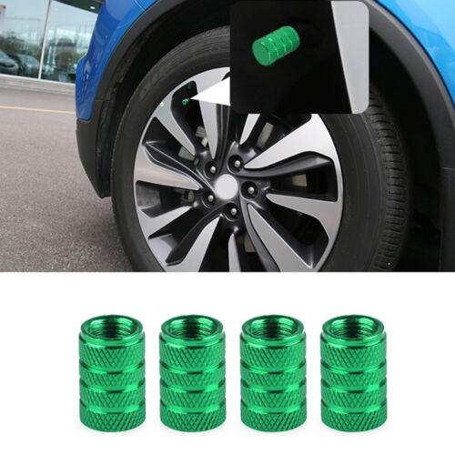 4 x Aluminum Piston Tire//Rim Valve//Wheel Air Port Dust Cover Stem Cap//Caps Green