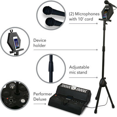 Mainstage All-In-One Premium Karaoke Party System w//Vocal Sound and Light Effects Singsation Karaoke Machine Two Microphones and Sound System