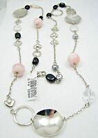 Rlm Studio Robert Lee Morris 40 Sterling Disc Pearl Heart Bead Necklace