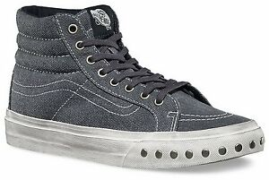 ca157fcb4a VANS SK8 HI SLIM OVERWASHED BLUE GRAPHITE MENS 3.5 NEW NIB WOMENS 5 ...