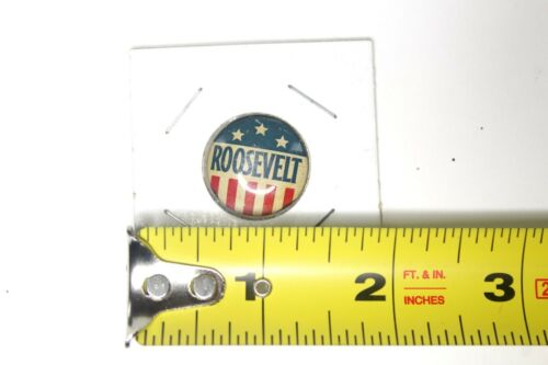 Roosevelt FDR Red White and Blue Flag Stars Campaign Pin
