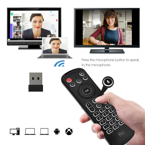 Rii MX6 Backlit Fly Mouse Mini Keyboard IR Remote Controller for Smart TV