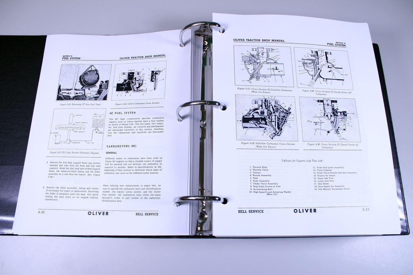 Oliver 66 77 88 550 660 770 880 Tractor Service Repair Manual Shop Wiring Diagram Book Overhaul Ebay