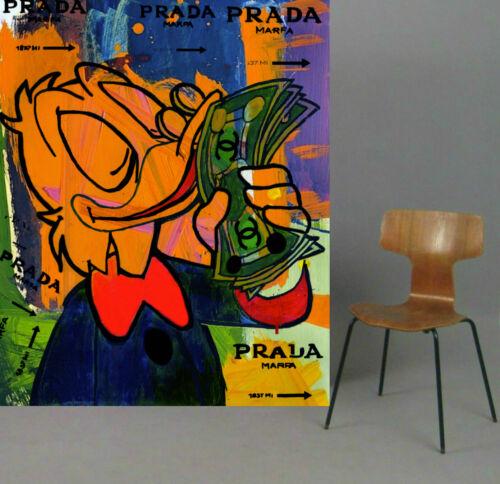 Motiv Dagobert Comic Fashion XXL150x120cm Alu Dibond PopArt//Malerei//StreetArt