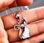 Fashion-Charm-925-Silver-Cat-White-Fire-Opal-Pendant-Chain-Necklace-Jewelry-HOT thumbnail 2
