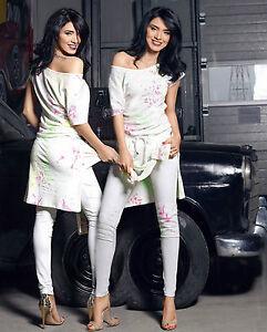 T Röhrenhose Xs Risse Freitzeitanzug Damentop s Foggi 2 shirt teiler Damenhose qtnHB