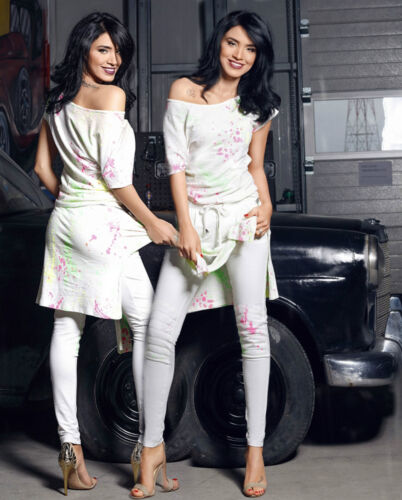 Xs teiler s Damenhose shirt Damentop T 2 Foggi Risse Röhrenhose Freitzeitanzug Axzgqwc5