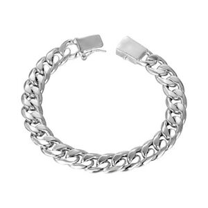18K-White-Gold-Plated-Curb-Chain-Bracelet-with-Closure-7-8-034-ITALY