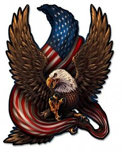 Eagle-and-Flag-Plasma-Metal-Sign-Hand-Made-in-the-USA-with-American-Steel