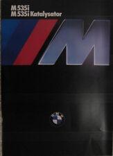 Prospekt BMW E28 M535i/M535i KAT  2/85