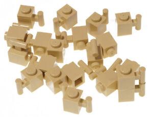 LEGO - 20 x Stein 1x1 mit Stange beige  ( sandfarben ) Eisenbahn / 2921 NEUWARE