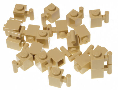 sandfarben LEGO 20 x Stein 1x1 mit Stange beige Eisenbahn // 2921 NEUWARE