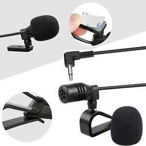 3-5mm-Microphone-Car-Radio-Stereo-GPS-Bluetooth-Enabled-Audio-DVD-External-Mic