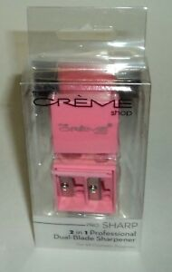 THE-CREME-SHOP-Pro-Sharp-2-In-1-Professional-Dual-Blade-Sharpener-PINK-NIB