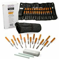 Wood Carving Chisel Set- Professional Wood Carving Tools Deluxe 18 Pieces Wit...