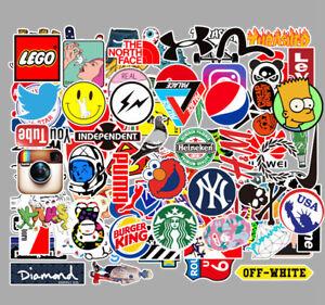 100 different mixed logo stickers Graffiti art bike skateboard PC Vinyl decals
