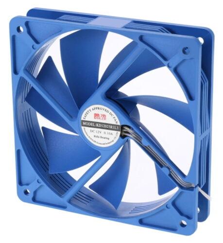 800RPM 3PIN COOLERTEC 120mm Blue Silent Case Fan CT-KD12025R-3P4P 4PIN