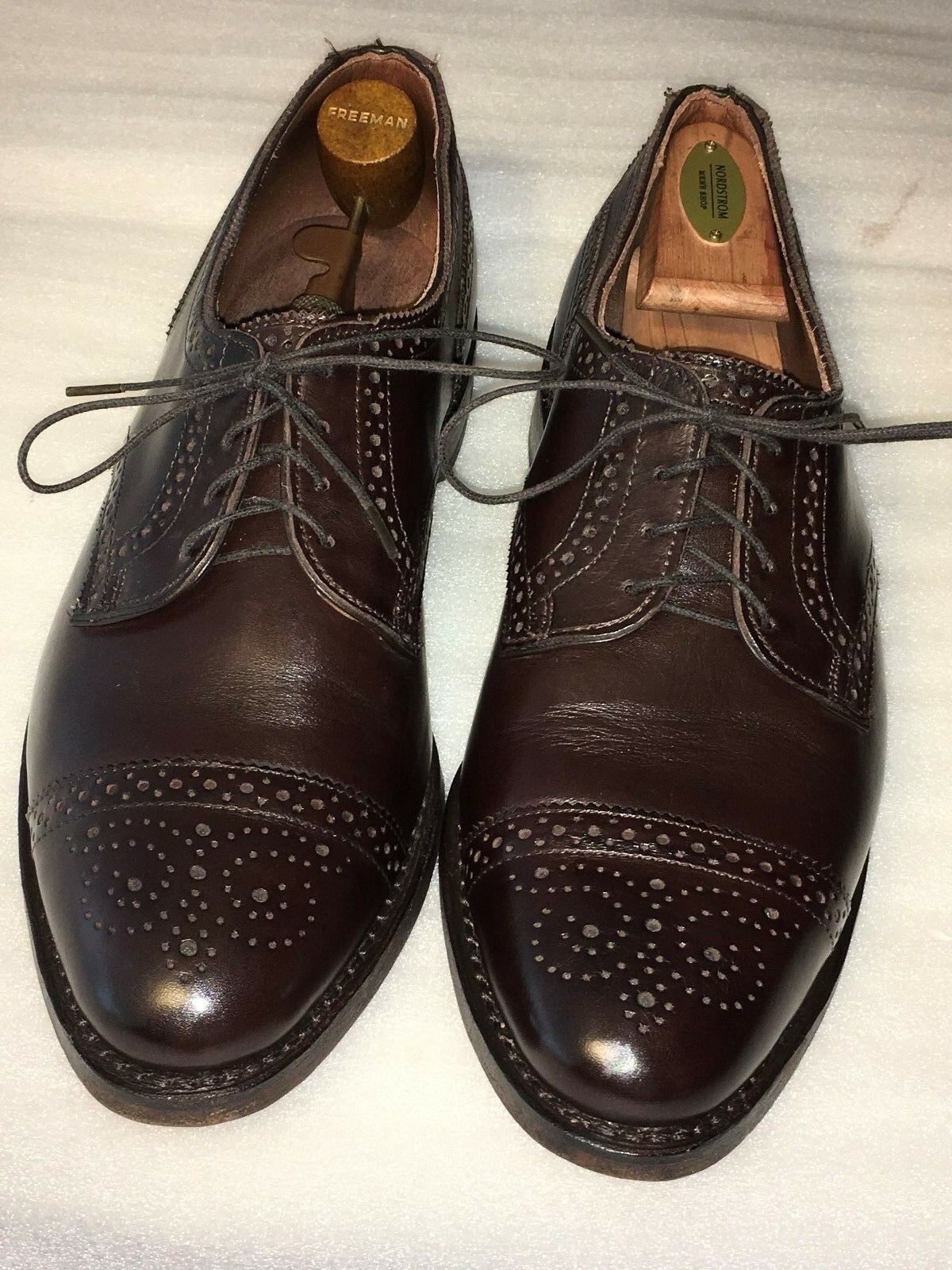 Allen Edmonds men's  6TH AVENUE  Oxfords Sz 9.D Brown (087) Retail  385