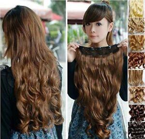 Haarverlaengerung-gewellt-ca-45-cm-Clip-in-Extensions-Haarteil-Haarverdichtung