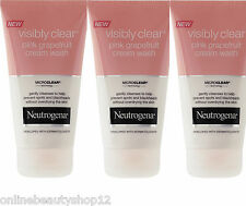 3 x Neutrogena Visibly Clear Pink Grapefruit Cream Wash - spots & blackheads