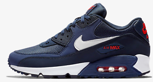 on sale 4763d c7ddd Image is loading Nike-Air-Max-90-Essential-034-Midnight-Navy-