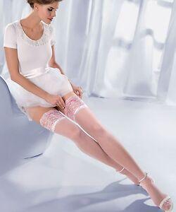 Bas autofixant blanc sexy femme mariage dentelle GABRIELLA 20 den ... b8bd41c4061