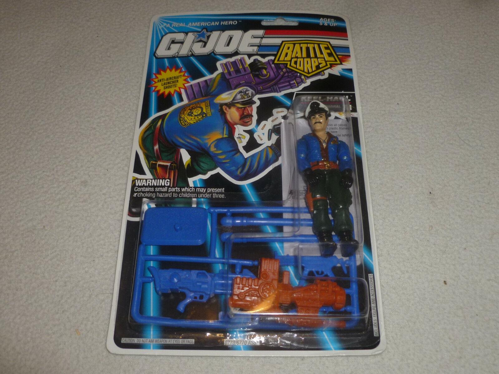 NEW ON CARD GI JOE BATTLE CORPS KEEL-HAUL FIGURE 1992 HASBRO NOC ADMIRAL VINTAGE