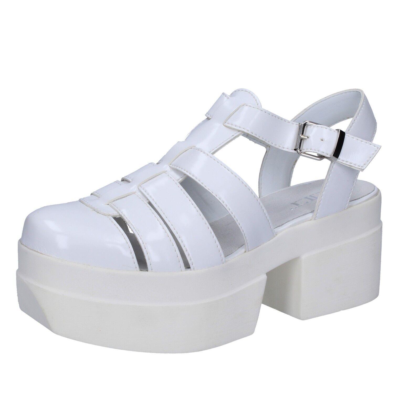 Scarpe DA DONNA CULT 6 (EU 39) Sandali in Pelle Bianco BT539-39