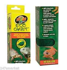 New Zoo Med Eco Carpet For 40 Gallon Tanks Washable