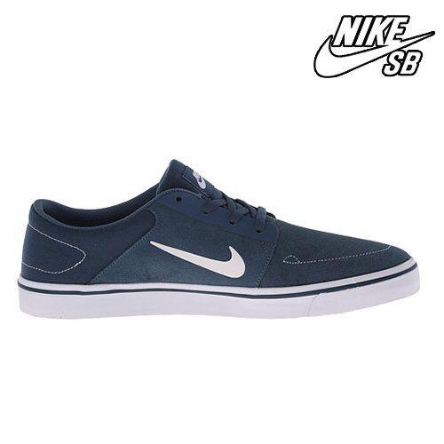 725027-413: Hombres Nike SB Blanco Portmore Mid Navy / Blanco SB / GM LGHT brwn skate Zapatos Jordania el último descuento zapatos para hombres y mujeres e7eaa1