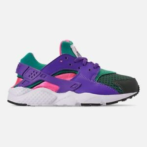 69489caca67a New Nike Youth Huarache Run GS Shoes (BQ7096-300) Outdoor Green Hyp ...