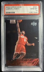 2003-Upper-Deck-Basketball-LeBron-James-ROOKIE-RC-301-PSA-10-GEM-MINT