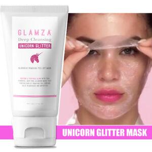 Einhorn-Set-Glitzer-Mitesser-Abziehen-Maske-Reinigend-Pore-amp-Schlaf-Augenmaske