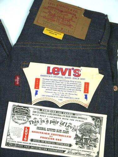 Vintage 60s Levis 505-0217 Jeans Mens 27x27 NWT Ra