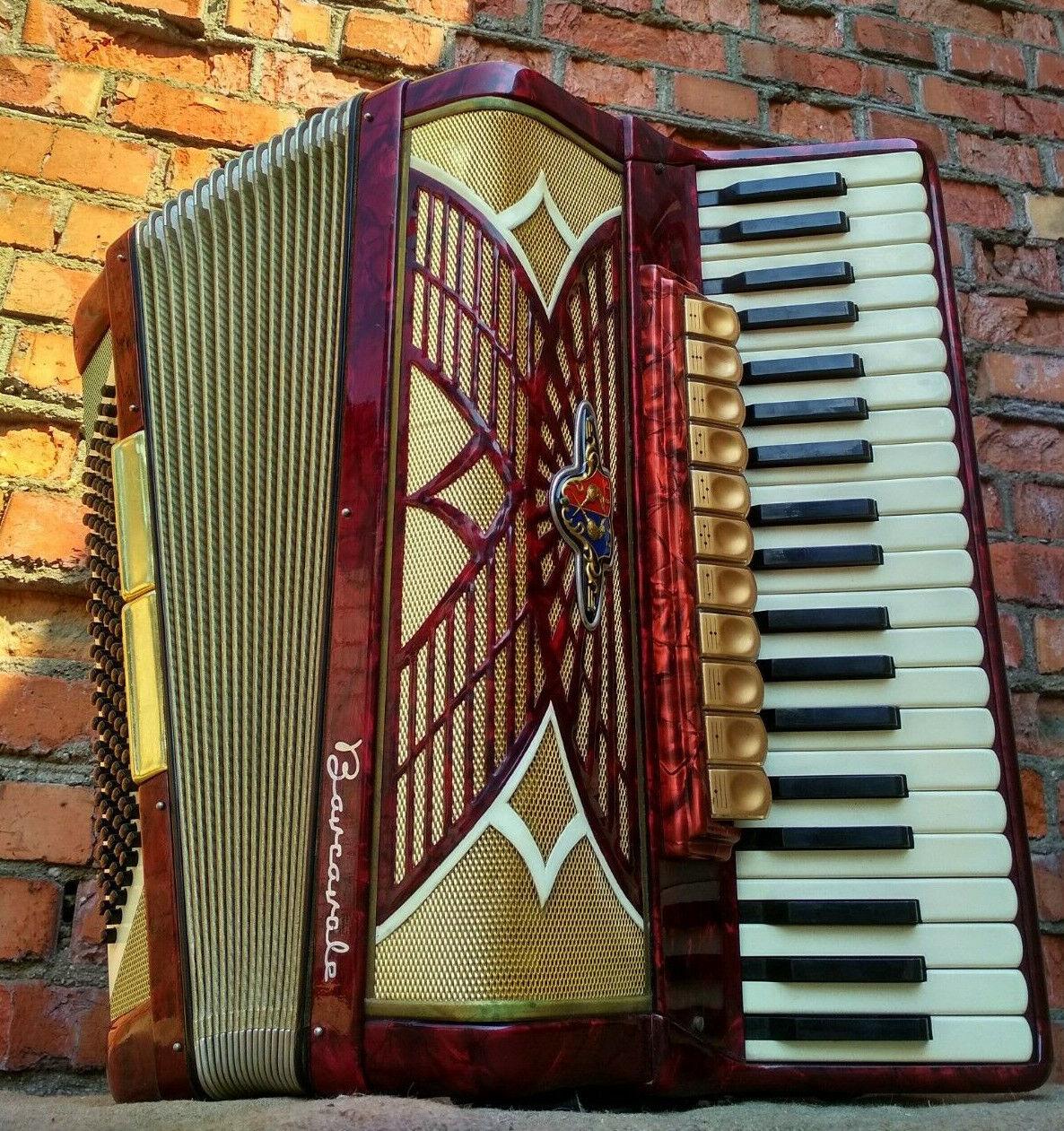 Akkordeon Barcarole 120 Bass Musical Instrument 11 3 Vintage Retro Deutsch