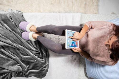 Women Winter Weave Memory Foam Slip On Fleece Fuzzy Plush Slippers Indoor Shoes